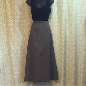 J. Crew long houndstooth wool blend skirt